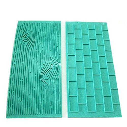 Miki 1202 Texture 2 Piece Mold Set Tree Bark And Brick