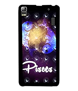PrintVisa Metal Printed Pisces Designer Back Case Cover for Lenovo K3 Note-D4900