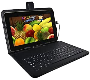 "BLACK KEYBOARD CASE FOR 10"" ANDROID PC TABLET NETBOOK"