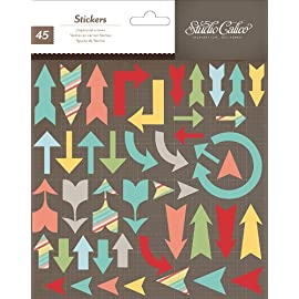 Studio Calico Snippets 6x7 Printed Chipboard Arrow Stickers
