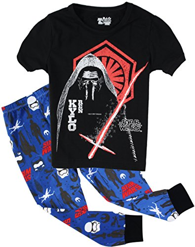 Boys Pajamas Cotton Robot 2 Piece Kids Sleepwear Pants Clothes Sets Black 4T (Robot 5t compare prices)