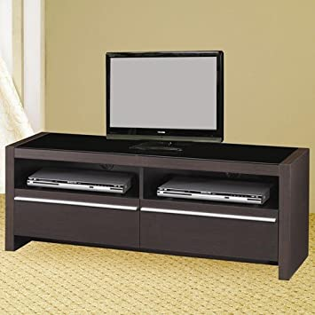 TV Stands Contemporary Media Console Shelves and Drawers Entertainment Center