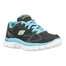 Girl\'s Skechers, Skech Appeal Align girls Sneakers CHARCOAL/BLUE 11.5 M