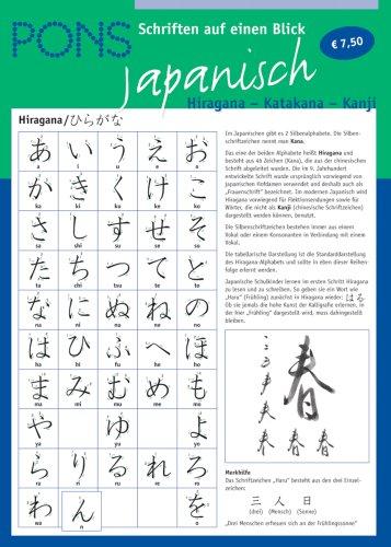 PONS Schriften auf einen Blick. Japanisch. Hiragana - Katakana - Kanji