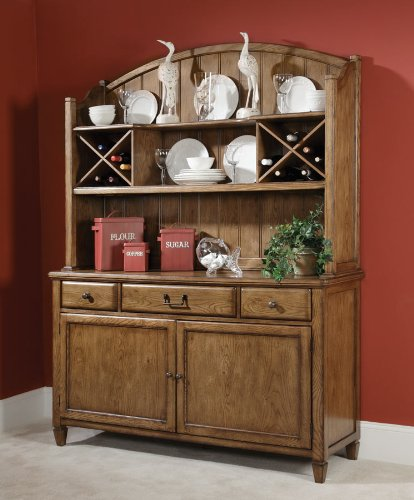 Cheap American Drew Americana Home Buffet w/ Hutch in Warm Oak (114-830R)