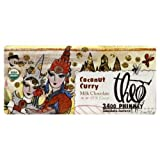 Theo Fantasy Milk Chocolate Inclusion Bars, Coconut Curry, 2-Ounce (Pack Of 12)