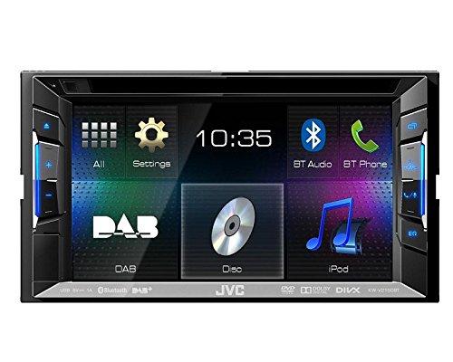 Auto-DAB-Radio-Multimedia-2-DIN-DVD-USB-JVC-mit-Bluetooth-und-DAB-Antenne-fr-Hyundai-i30-man-Klima-2008-012012-incl-Einbauset