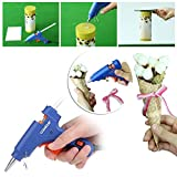 CCbetter® Mini Hot Glue Gun with 25 pcs Melt Glue Sticks High Temperature Melting Glue Gun Kit Flexible Trigger for DIY Small Craft Projects & Package and Quick Repairs in Home & Office Cleanly (20-watt, Blue)