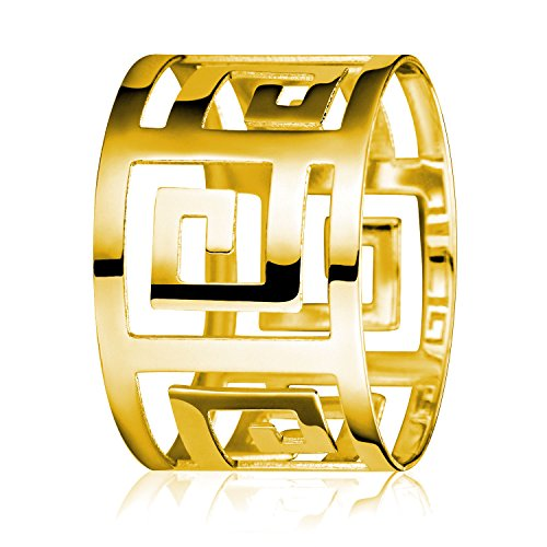 Set of 6 Gold Alloy Napkin Ring for dinning table, Wedding, home, restaurant and hotel. (Grape Sizer Set compare prices)
