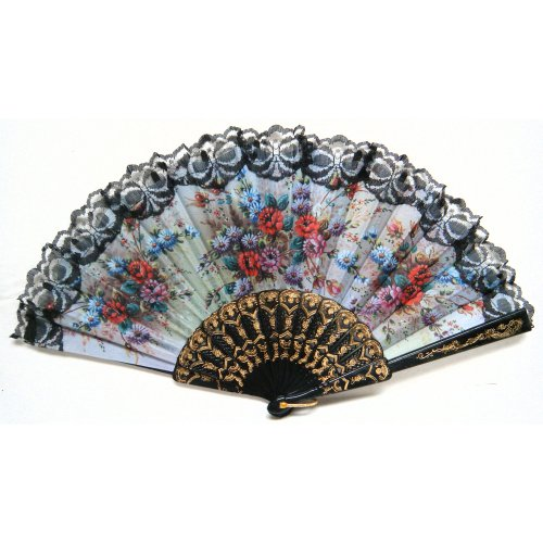 TOOGOO(R) Spanish style Hand Fan Decorative Design