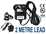 Adaptors4U 2 Metre Long UK Mains 9V Charger Adapter for LeapFrog LeapPad Explorer Tablet