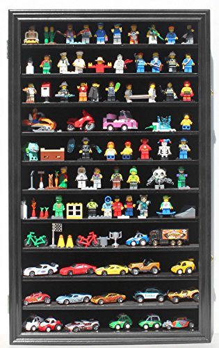 Hot Wheels Matchbox 1/64 scale Diecast Display Case Cabinet Wall Rack w/UV Protection HW11-BL (Die Cast Display Case 1 64 compare prices)