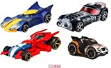 Hot Wheels Wolverine & Spider Man + Guardians Star Lord & Rocket Raccoon Marvel Comics Galaxy 4 Pack Character Cars
