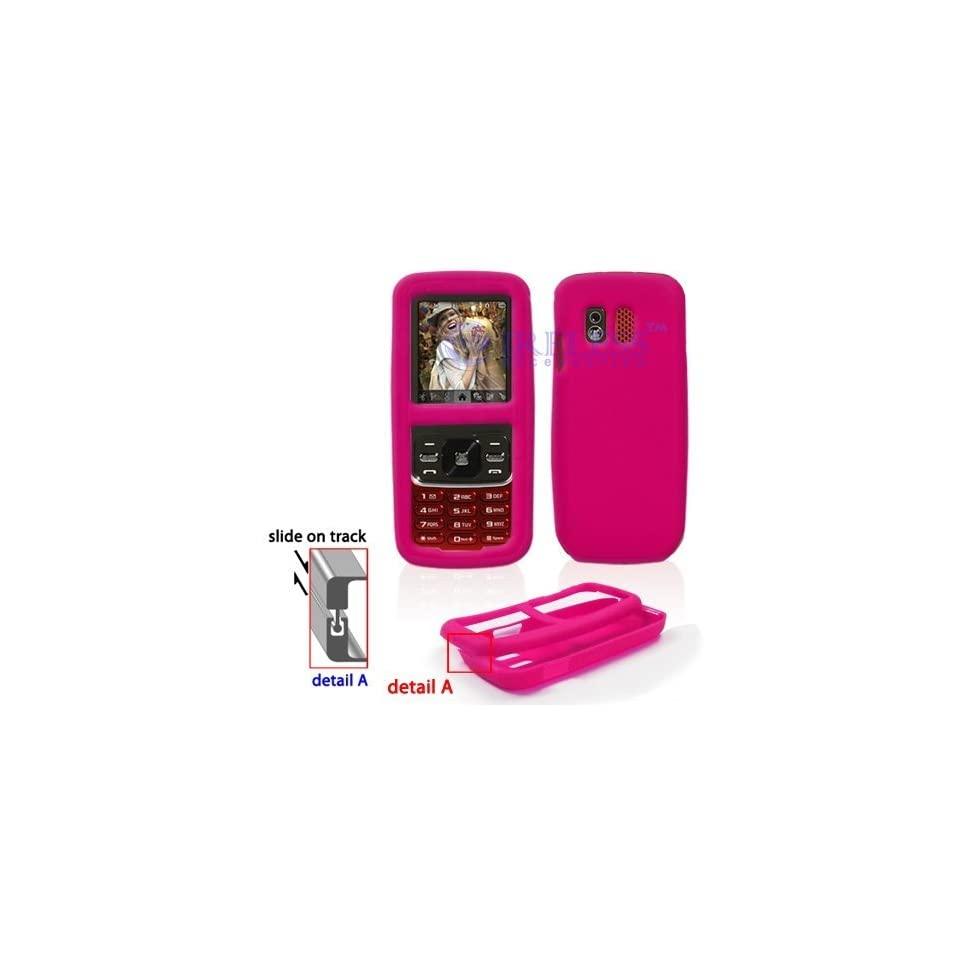 Samsung M540 RANT Trans. Hot Pink Silicon Skin Case