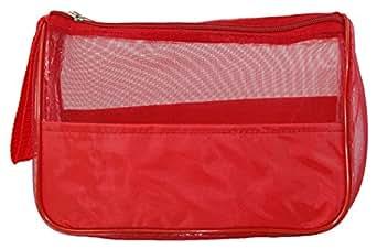 Nylon Travel Kit / Toiletry Bag, Red