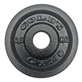 Gold's Gym Cast Iron Weight Plate - Black, 0.5 Kg
