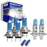 55w Super White Xenon High (main) / Low (dipped) / Fog / Side beam upgrade HeadLight Bulbs BMW 3 SERIES E36 320 i 09.90->02.98