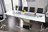 Ausziehbarer-Design-Esstisch-CONCORD-Glastisch-chrom-weiss-180-220cm-Tisch