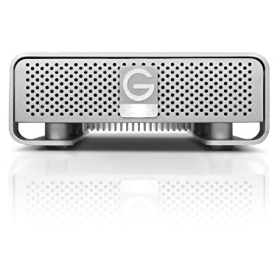 G-Technology G-DRIVE 4 TB 7200 RPM Professional-Strength External Hard Drive, Silver (0G02537)