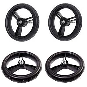 Mountain Buggy Mountain Buggy Aerotech Wheel Set For Duet Stroller, Black