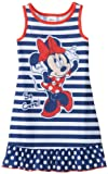 Komar Kids Girls 2-6X Toddler Minnie Mouse Striped Pajama Short Sleeve Nightgown