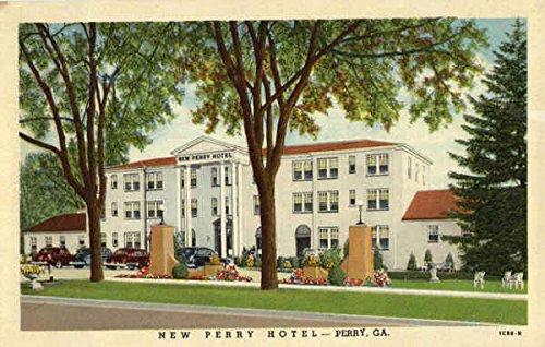 New Perry Hotel Georgia Original Vintage Postcard