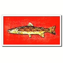 Brown Trout Fish Art 14054 Custom Picture Frame Wall Home Decor Nautical Beach Fisherman Shabby Chic Gift Ideas - Red 20\
