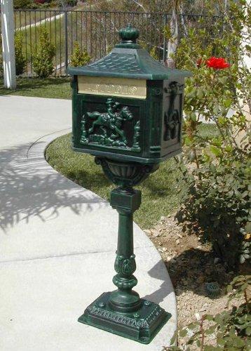 Cast Aluminum Victorian Cast Aluminum Pedestal Mailbox System