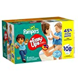 Pampers Easy Ups Trainers for Boys Value Pack, Size 2T/3T, 108 Count