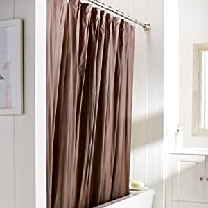 United Linens 10 Gauge HEAVY DUTY Shower Curtain Liner Brown 72x7
