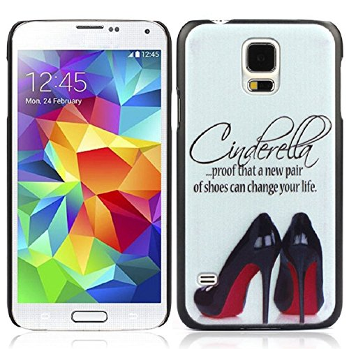Samsung Galaxy S5 Case, Shensee High-heeled Shoes Pattern Skin Pc Case Cover for Samsung Galaxy S5 I9600 G900