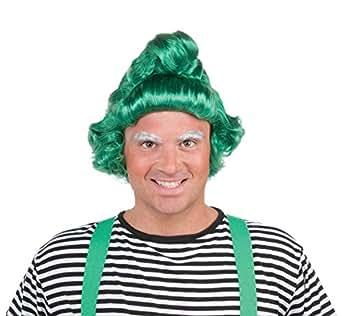 Oompa Loompa Adult Costume Wig Green One Size
