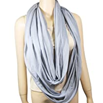 Layered Circle Infinity Scarf Light Grey