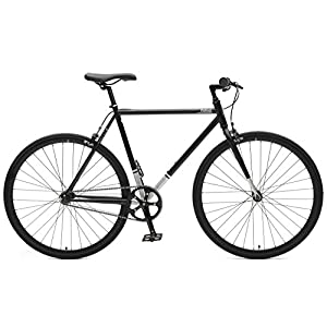 Critical Cycles Harper Single-Speed Fixed Gear Urban Commuter Bike, Matte Black, 57cm, l