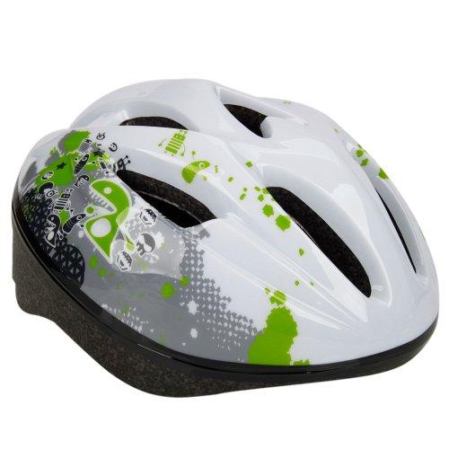 FC-COO3軽量 子供用自転車ヘルメット 男の子 女の子 キッズ おしゃれなヘルメット スケボー 9孔構造 マルチスポーツや通学にも  ホワイト   並行輸入品