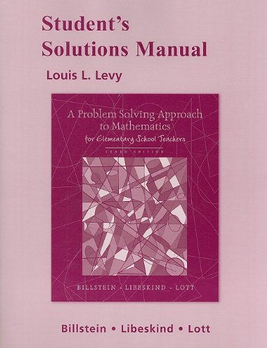 Student Solutions Manual for A Problem Solving Approach...