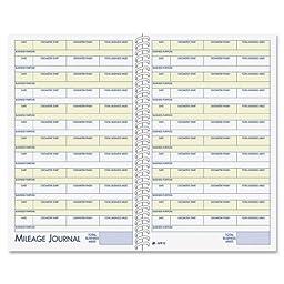 Wholesale CASE of 20 - Adams Vehicle Mileage/Expense Journal Pocket-Vehicle Mileage/Expense Jrnl,w/Pckts,5-1/4\