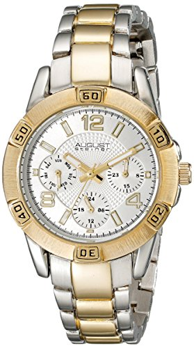 August Steiner Women's Analog Display Quartz Two Tone Watch