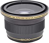 BiG DIGITAL 0.38x Wide-Angle Fisheye w Macro Close Up Conversion Lens for 58MM 49MM & 52MM Lens Thread for Sony E-Mount - Alpha a6000 - a5000 - A3000 - NEX - NEX-F3K - NEX-3NL - NEX-3N - NEX-3NL B - NEX-3NL W - NEX-5T - NEX-5TL - NEX-5TL S - NEX-5TL W - NEX-5R - NEX-5RK - NEX-6L - NEX-6L B - NEX6L B2BDL - NEX-7 - a7R - a7S - a7K - ILCE7 B - Compact System Digital SLR Cameras