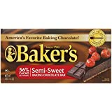 Baker's Semisweet Baking Chocolate Bar, 4 Ounce(Pack of 12)