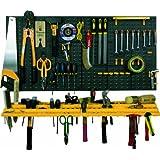 Werkzeug-Lochwand mit Schlüsselloch-Lochung + Haken + Konsolen