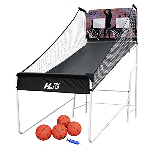 HLC Sports Double Shot 8-in-1 Two-player Arcade Electronic Basketball System (Basketball Hoop Electronic compare prices)