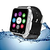 Evershop® Newest SIM Card NFC Bluetooth Smart Watch GSM Phone Wristwatch Phone Mate Independent Smartphone for Android and IOS (Silver)