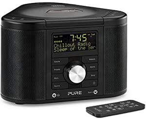 PURE Chronos CD Series II, DAB/FM/CD Stereo Clock Radio - Black