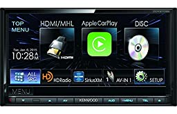 Kenwood DDX9702S 7 Inch Double Din Bluetooth Touchscreen HD Car Stereo Receiver