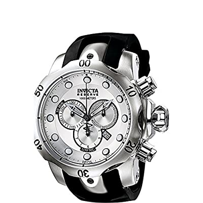 Invicta Watches Mens Venom Reserve Chronograph Polyurethane Band Watch