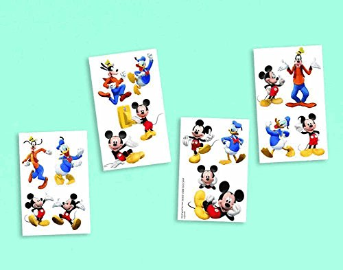 Amscan Disney Mickey Mouse Party Tattoo (16 Piece), Multi