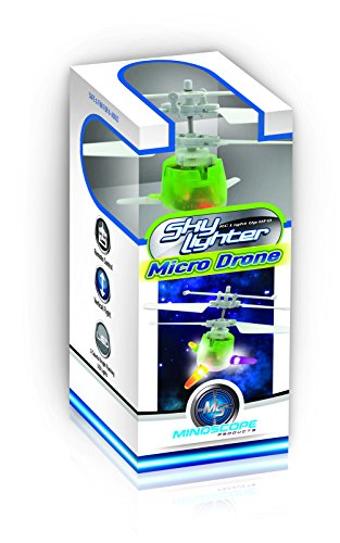 Mindscope Sky Lighter Micro UFO Green Infrared Remote Control 3 Channel