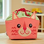 Kids' Drawstring Insulated Lunch Bag (Coral the Cat)