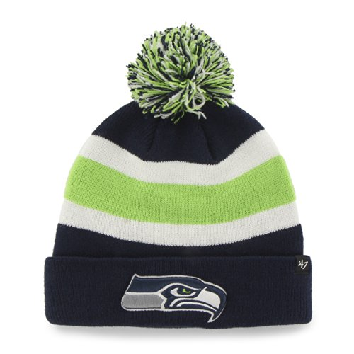 Nfl Seattle Seahawks '47 Brand Breakaway Cuff Knit Hat With Pom, Light Navy, One Size front-1046093